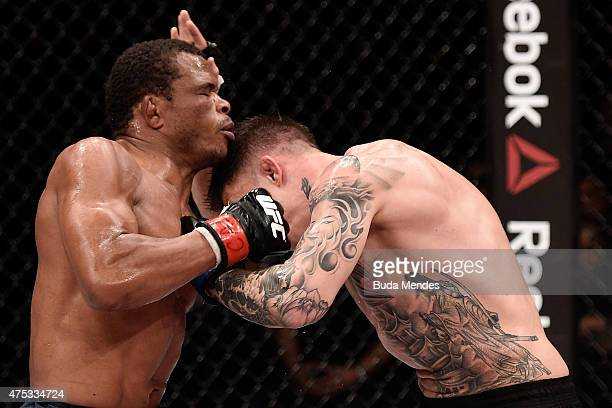 Francisco Trinaldo Massaranduba of Brazil and Norman Park of Northern Ireland in their lightweight UFC bout during the UFC Fight Night event at Arena...