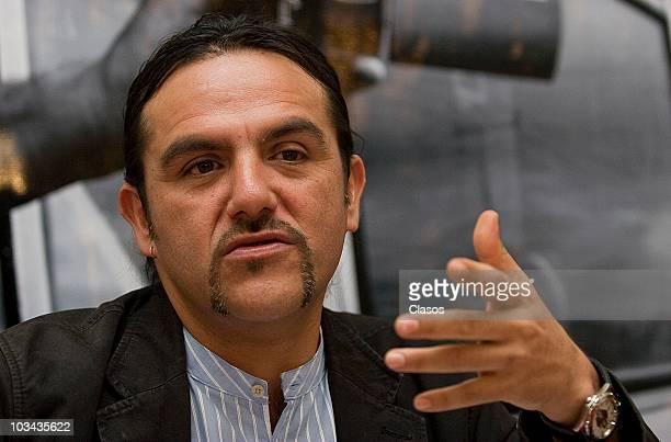 Francisco Vargas during a press conference to present the movie 'Nuestra Senora de Concreto La Cuidad de Mexico a 200 Anos de la Independencia' on...