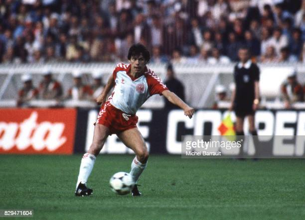 Franck Arnesen of Denmark during the European Championship match between France and Denmark at Parc des Princes Paris France on 12th June 1984