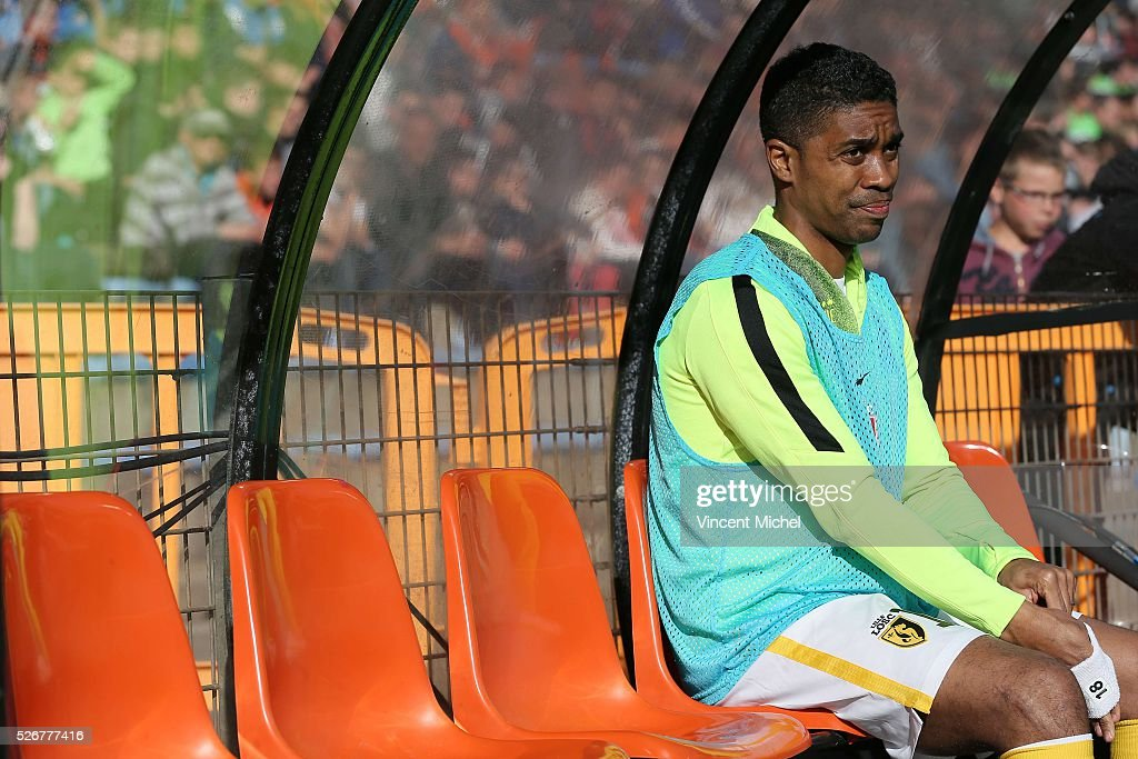 Franck Beria of Lille during the French Ligue 1 match between Fc Lorient and Lille OSC at Stade du Moustoir on April 30 2016 in Lorient France