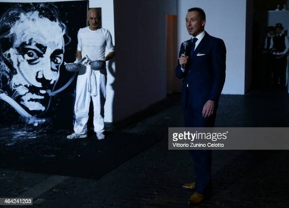 Franck Bouroullec and JeanMarc Pontroue attends Roger Dubuis event during the SIHH 2014 on January 21 2014 in Geneva Switzerland