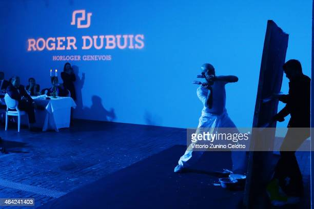 Franck Bouroullec performs during Roger Dubuis event during the SIHH 2014 on January 21 2014 in Geneva Switzerland