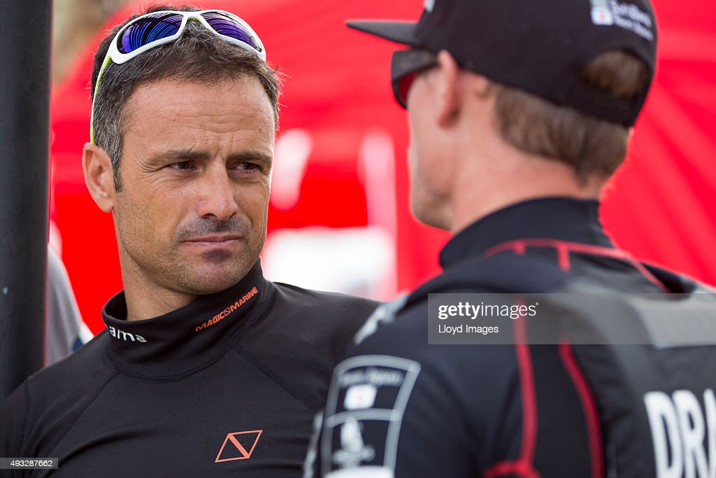 <a gi-track='captionPersonalityLinkClicked' href=/galleries/search?phrase=Franck+Cammas&family=editorial&specificpeople=773410 ng-click='$event.stopPropagation()'>Franck Cammas</a> (FRA) skipper of Groupama Team France during the Louis Vuitton Americas Cup World Series on October 18, 2015 in Hamilton, Bermuda.