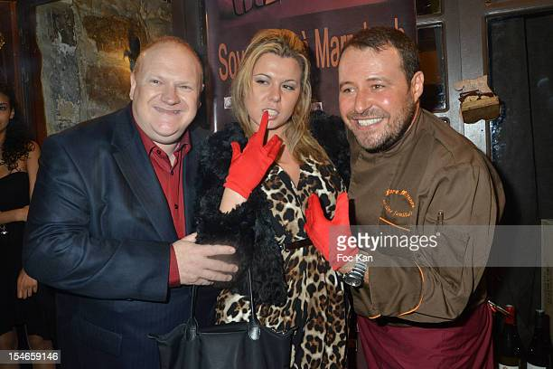 Franck de La Personne Cindy Lopes and Marc Mitonne attend the 'Les 10 Ans de Marc Mitonne' Party Hosted by '2 Mains Rouges' at the Marc Mitonne...