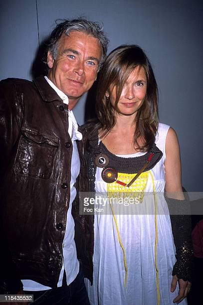 Franck Dubosc and Axelle Laffont during Sardaigne Forte Village Promotion Party at VIP Room in Paris France