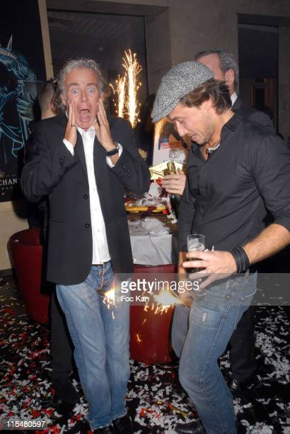 Franck Dubosc and Stephane Rousseau during Stephane Rousseau's One Man Show at The Bataclan Theater After Party at Club de L Etoile in Paris France