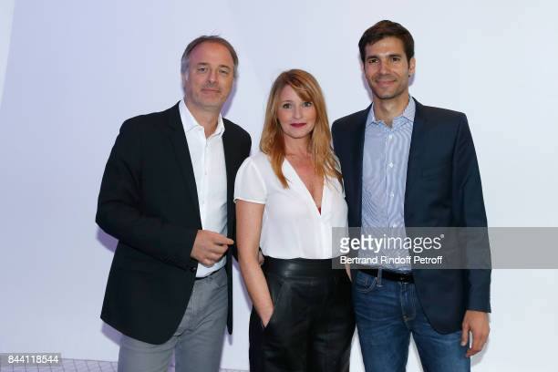 Franck Duret Valerie Amarou and Maxime Cogny attend the BFM TV's Press Conference to announce their TV Schedule for 2017/2018 on September 8 2017 in...