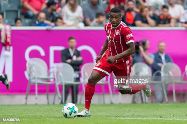 Franck Evina of Bayern Muenchen controls the ball during the Telekom Cup 2017 Final between SV Werder Bremen and FC Bayern Muenchen at Borussia Park...