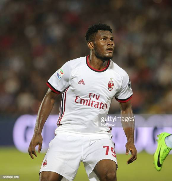 Franck Kessie during the Serie A match between FC Crotone and AC Milan on August 20 2017 in Crotone Italy