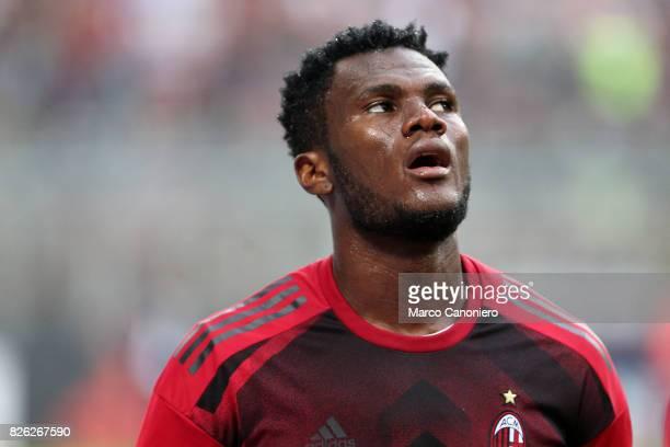 Franck Kessie of Ac Milan during UEFA Europa League Qualifying Round match between AC Milan and CSU Craiova AC Milan won 20 on the night and entered...