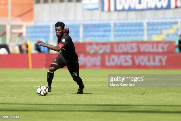Franck Kessie of Ac Milan in action during the Serie A football match between Uc Sampdoria and Ac Milan Uc Sampdoria wins 20 over Ac Milan