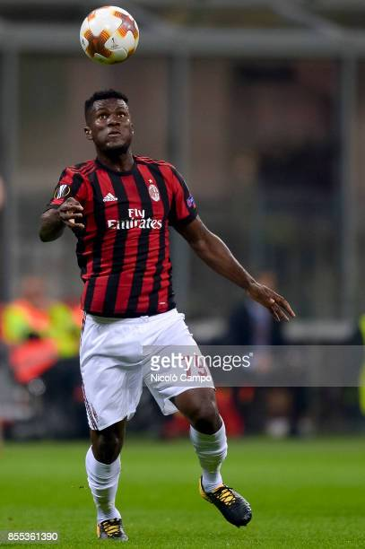 Franck Kessie of AC Milan in action during the UEFA Europa League Group D match between AC Milan and HNK Rijeka AC Milan wins 32 over HNK Rijeka