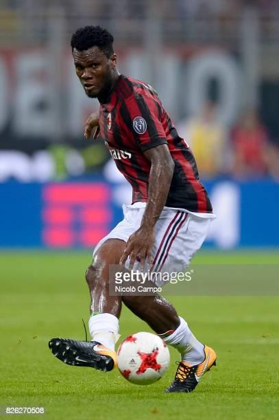 Franck Kessie of AC Milan in action during the UEFA Europa League qualifier football match between AC Milan and CSU Craiova AC Milan wins 20 over CSU...