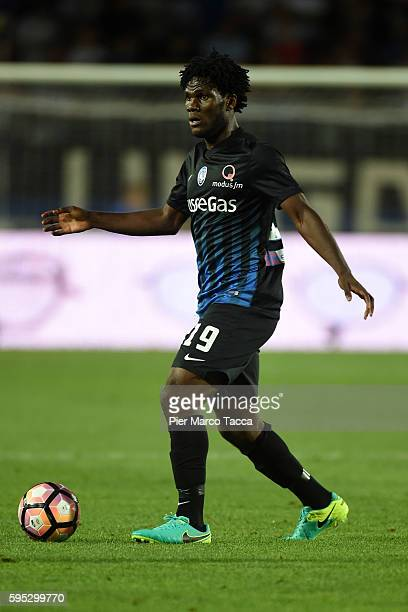 Franck Kessie of Atalanta BC in action during the Serie A match between Atalanta BC and SS Lazio at Stadio Atleti Azzurri d'Italia on August 21 2016...