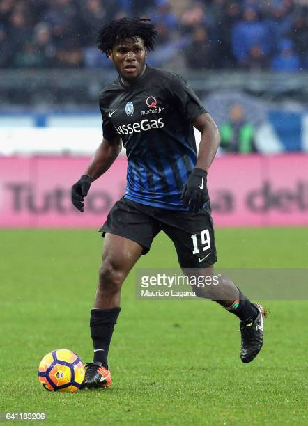 Franck Kessie of Atalanta during the Serie A match between Atalanta BC and Cagliari Calcio at Stadio Atleti Azzurri d'Italia on February 5 2017 in...