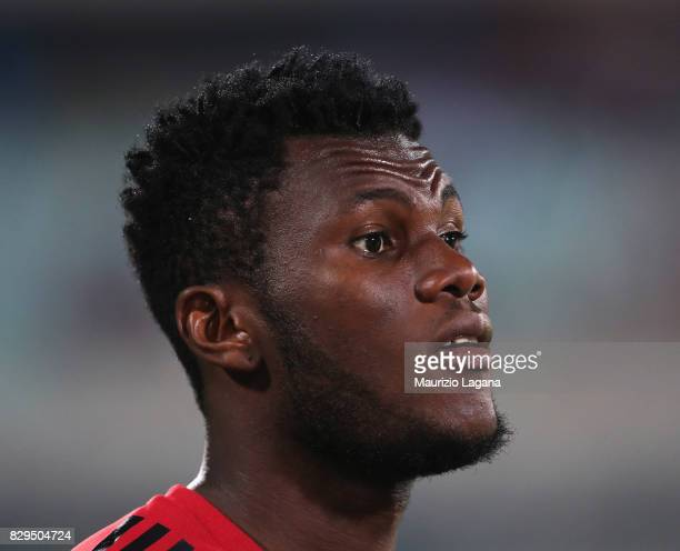Franck Kessie of Millan during the PreSeason Friendly match between AC Milan and Villareal at Stadio Angelo Massimino on August 9 2017 in Catania...