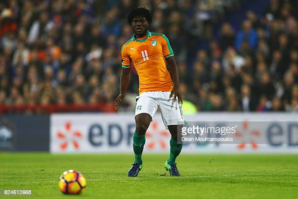Franck Kessie of The Ivory Coast in action during the International Friendly match between France and Ivory Coast held at Stade Felix Bollaert Deleis...