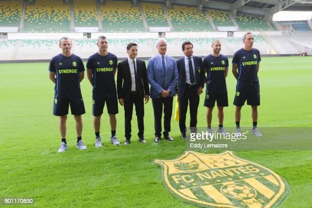 Franck Kita and Claudio Ranieri Head coach of Nantes and Waldemar Kita President of Nantes during Press conference of Fc Nantes on June 26 2017 in...
