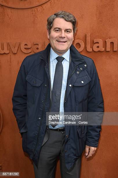 Franck Louvrier attends day eleven of the 2016 French Open at Roland Garros on June 1 2016 in Paris France