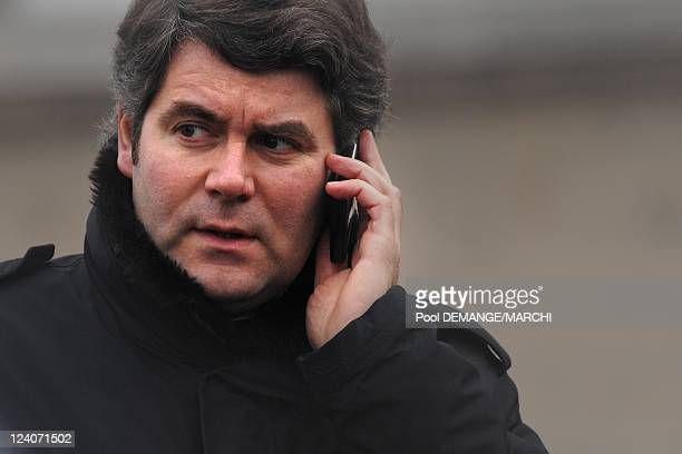 Franck Louvrier communications manager of the Elysee In Neufchateau France On January 29 2008 He is always behind The President Of The Republic...