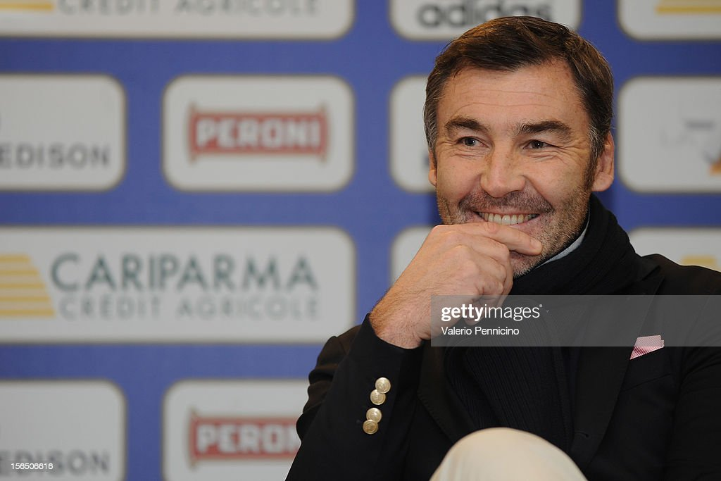 Franck Mesnel attend a presse conference at Stadio Olimpico on November 16, 2012 in Rome, Italy.