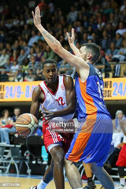 Franck Ntilikina of Strasbourg during the Final match between Strasbourg and Gravelines Dunkerque at Tournament ProStars at Salle Arena Loire on...