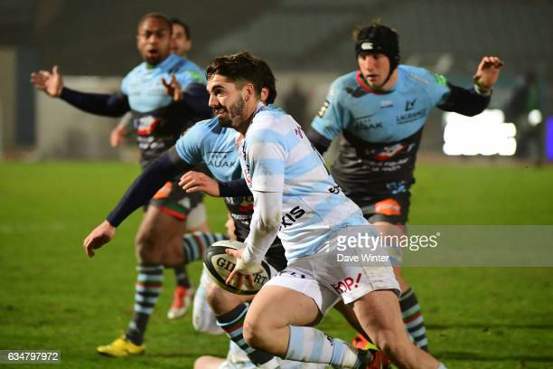 Franck Pourteau of Racing 92 during the Top 14 match between Racing 92 and Aviron Bayonnais Bayonne on February 11 2017 in Colombes France