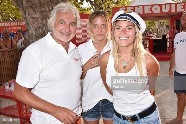 Franck Provost architect Louise Naegelen and Singer Sophie Tapie attend theTrophee Senequier At Place des Lices on August 19 2016 in SaintTropez...
