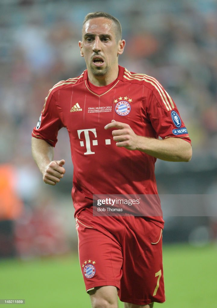 <a gi-track='captionPersonalityLinkClicked' href=/galleries/search?phrase=Franck+Ribery&family=editorial&specificpeople=490869 ng-click='$event.stopPropagation()'>Franck Ribery</a> in action for Bayern Munich during the UEFA Champions League Final between FC Bayern Munich and Chelsea at the Fussball Arena Munich on May 19, 2012 in Munich, Germany. The match ended 1-1 after extra time, Chelsea won 4-3 on penalties.
