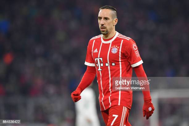 Franck Ribery of Bayern Muenchen looks on during the Bundesliga match between FC Bayern Muenchen and Hannover 96 at Allianz Arena on December 2 2017...