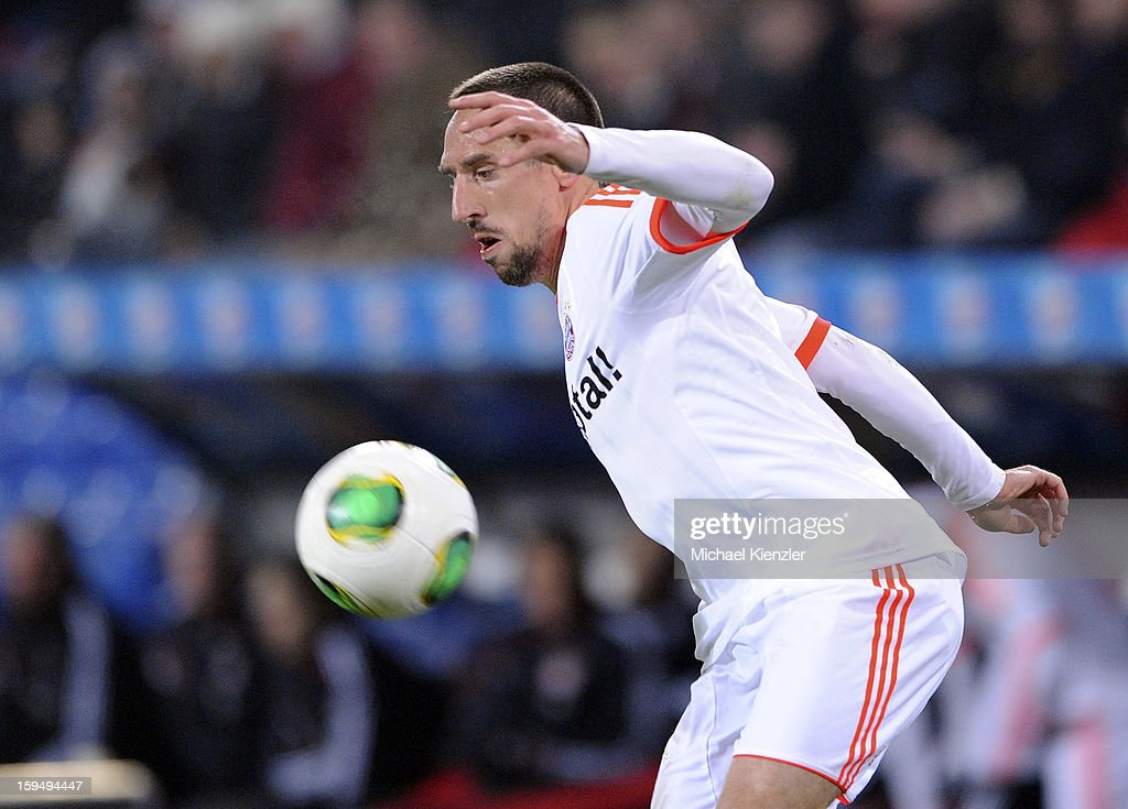 <a gi-track='captionPersonalityLinkClicked' href=/galleries/search?phrase=Franck+Ribery&family=editorial&specificpeople=490869 ng-click='$event.stopPropagation()'>Franck Ribery</a> of Bayern Munich controls the ball during the friendly match between FC Basel and Bayern Munich at Stadium St. Jakob on January 12, 2013 in Basel, Switzerland.