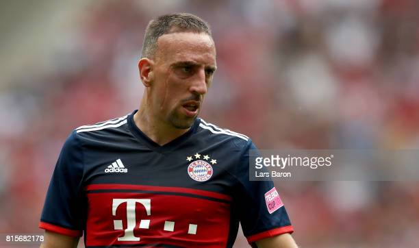 Franck Ribery of Muenchen looks on during the Telekom Cup 2017 match between Bayern Muenchen and 1899 Hoffenheim at on July 15 2017 in...