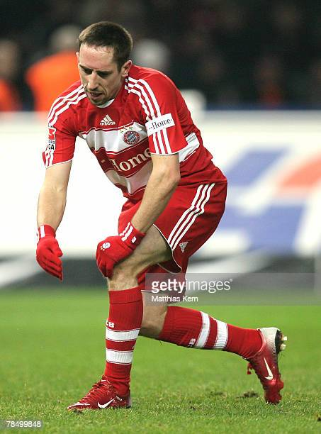 Franck Ribery of Munich looks dejected during the Bundesliga match between Hertha BSC Berlin and FC Bayern Munich at the Olympic stadium on December...
