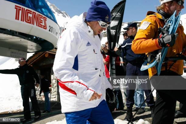 Franck RIBERY Retour du Glacier Stage de l'Equipe de France avant la Coupe du Monde 2010 Tignes France