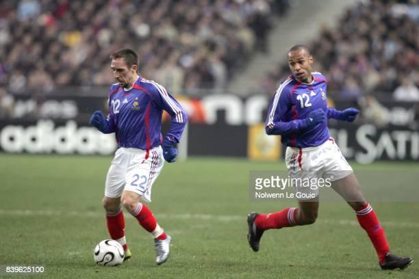 Franck RIBERY / Thierry HENRY France / Argentine Match amical Stade de France Saint Denis