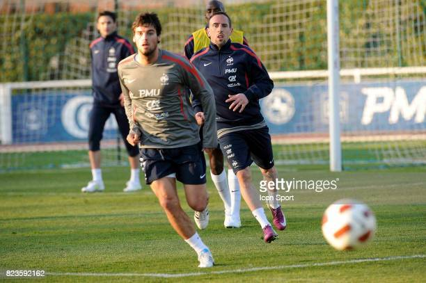 Franck RIBERY / Yoann GOURCUFF Entrainement Equipe de France Clairefontaine
