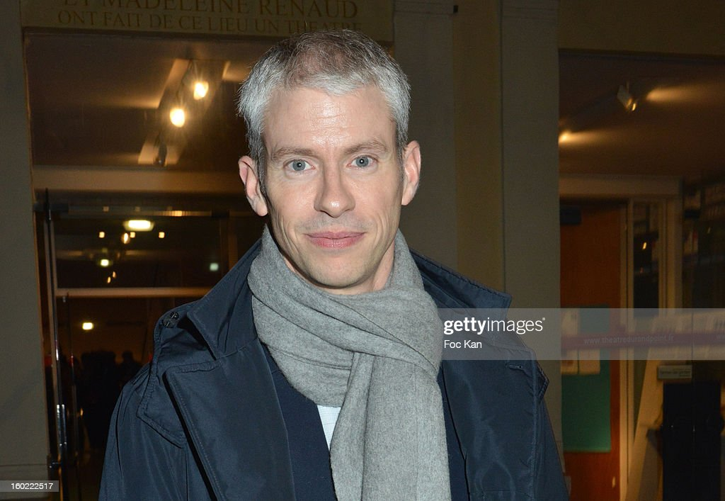 Franck Riester attends 'Mariage Pour Tous' at Theatre du Rond-Point on January 27, 2013 in Paris, France.