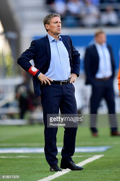 Francky Dury head coach of SV Zulte Waregem looks on during the Jupiler Pro League match between KAA Gent and SV Zulte Waregem in the Ghelamco Arena...