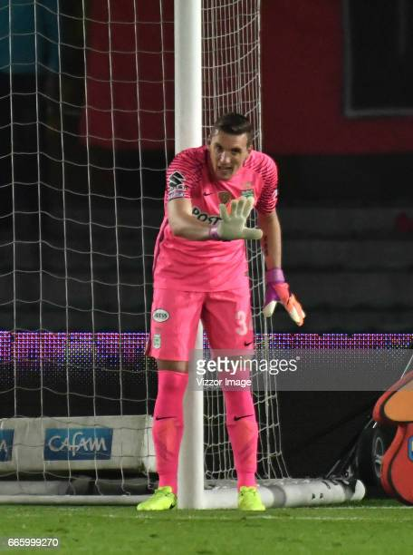 Franco Armani goalkeeper of Atletico Nacional in action during the match between Millonarios and Atletico Nacional as part of the Liga Aguila I 2017...
