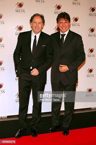 Franco Baresi and Stefano Eranio attend the Fondazione Milan 10th Anniversary Gala photocall on November 20 2013 in Milan Italy