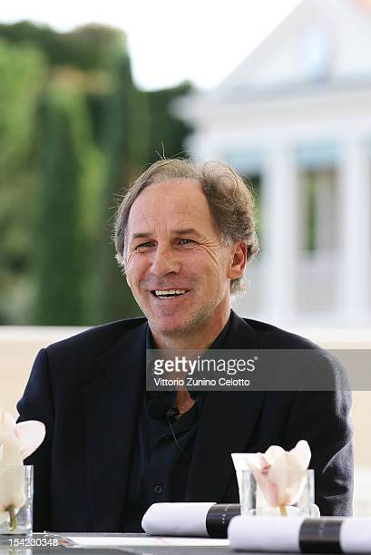 Franco Baresi is interviewed at MonteCarlo Bay prior to the Golden Foot Award 2012 ceremony on October 16 2012 in MonteCarlo Monaco