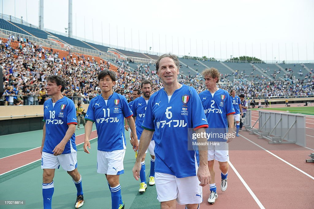 Franco Baresi #6 looks on after the J.League Legend and Glorie Azzurre match at the National Stadium on June 9, 2013 in Tokyo, Japan.
