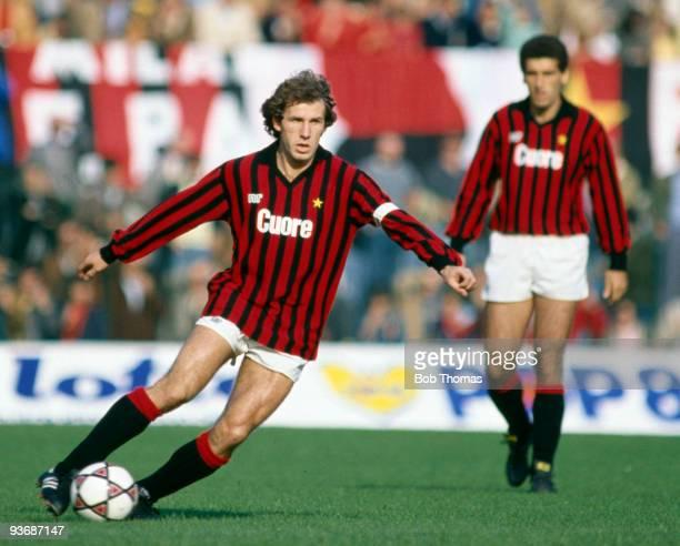 Franco Baresi of AC Milan during the AC Milan v Sampdoria Italian League match played at the San Siro Stadium in Milan on the 23rd October 1983 Milan...
