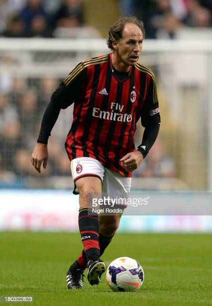 Franco Baresi of AC Milan Glorie during Steve Harper's testimonial match between Newcastle United and AC Milan Glorie at St James' Park on September...