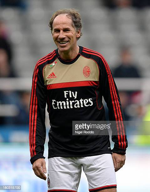 Franco Baresi of AC Milan Glorie is seen ahead of the Steve Harper testimonial match between Newcastle United and AC Milan Glorie at St James' Park...