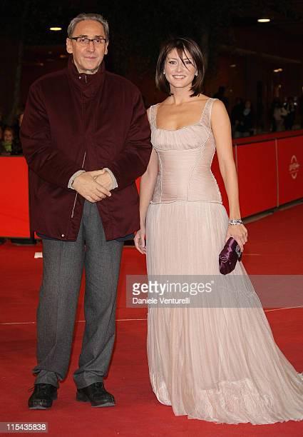 Franco Battiato and Chiara Conti attend the 'La Cravate' and 'Niente E Come Sembra' premiere during Day 5 of the 2nd Rome Film Festival on October 22...
