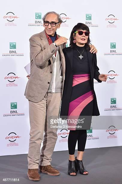Franco Battiato and Elisabetta Sgarbi attend the 'Due Volte Delta' Photocall during the 9th Rome Film Festival on October 23 2014 in Rome Italy