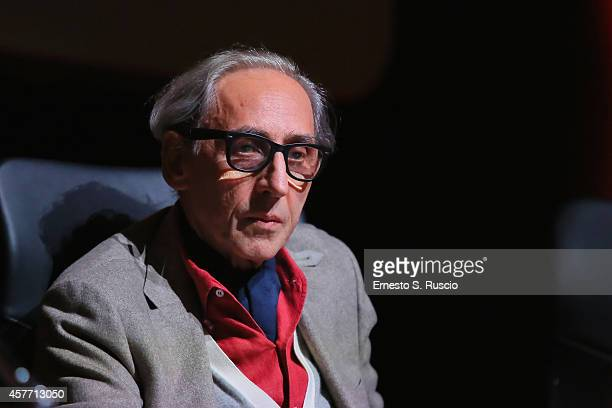 Franco Battiato attends the 'Due Volte Delta' Press Conference during the 9th Rome Film Festival on October 23 2014 in Rome Italy