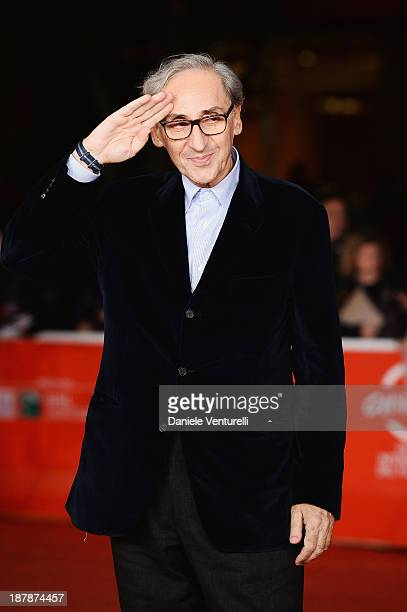 Franco Battiato attends Wes Anderson And Roman Coppola On The Red Carpet during The 8th Rome Film Festival on November 13 2013 in Rome Italy