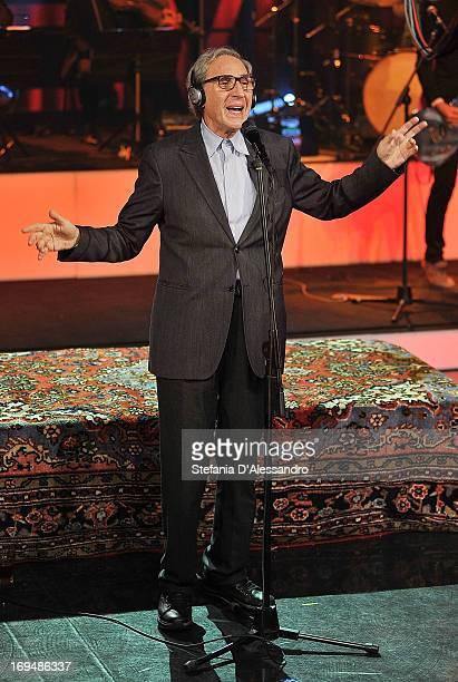 Franco Battiato performs at 'Che Tempo Che Fa' on May 25 2013 in Milan Italy